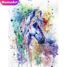 MomoArt 5D Diamond Painting Animal Embroidery Horse Mosaic Full Square/round Rhinestone Home Decoration