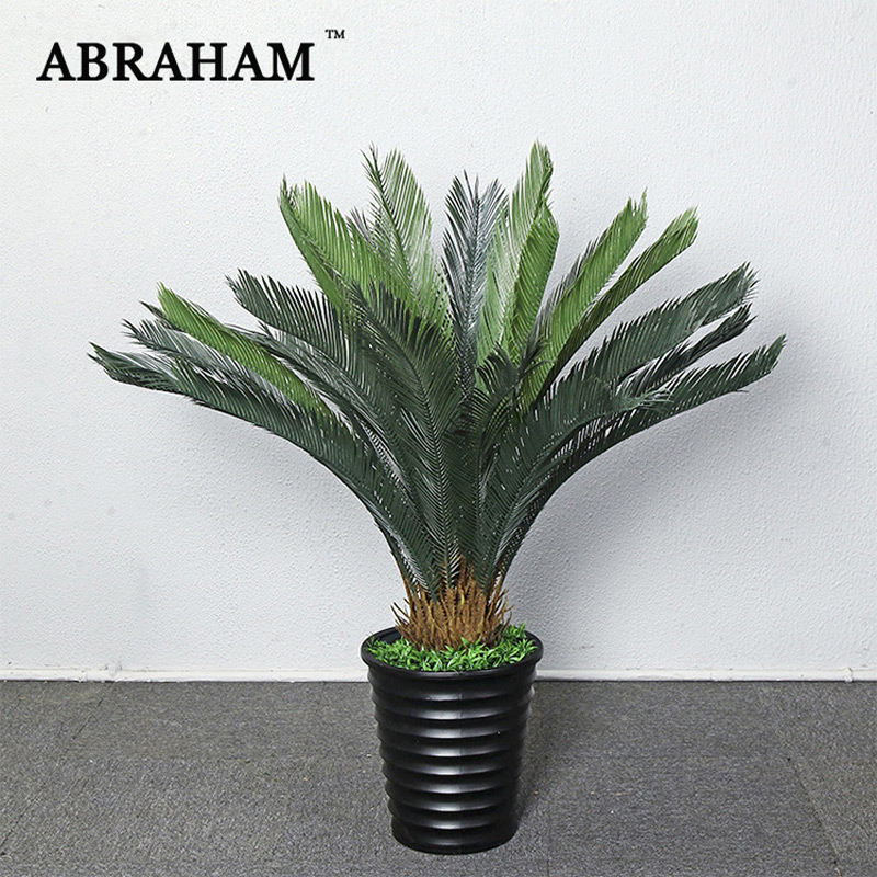 120cm Große Kunststoff Pflanzen Tropical Künstliche Baum Grün Palm Blätter Real Touch Banana Baum Indoor Anlage Für Home Office decor