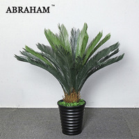 120cm Large Plastic Plants Tropical Artificial Tree Green Palm Leaves Real Touch Banana Tree Indoor Plant For Home Office Decor