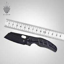 Kizer faca de sobrevivência c01c mini v3488c5 alta qualidade faca tática 2021 novo preto 154cm stonewashed lâmina & micarta lidar com