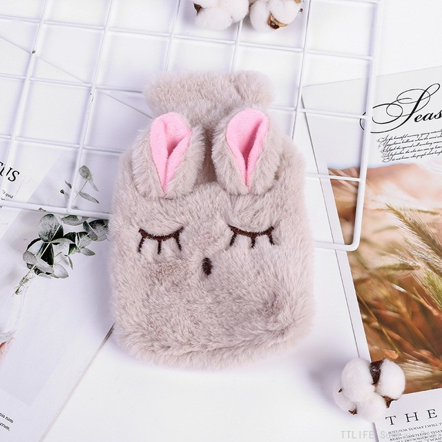 Hot Cute PVC Stress Pain Relief Therapy Hot Water Bottle Bag with Knitted Soft Cozy Cover