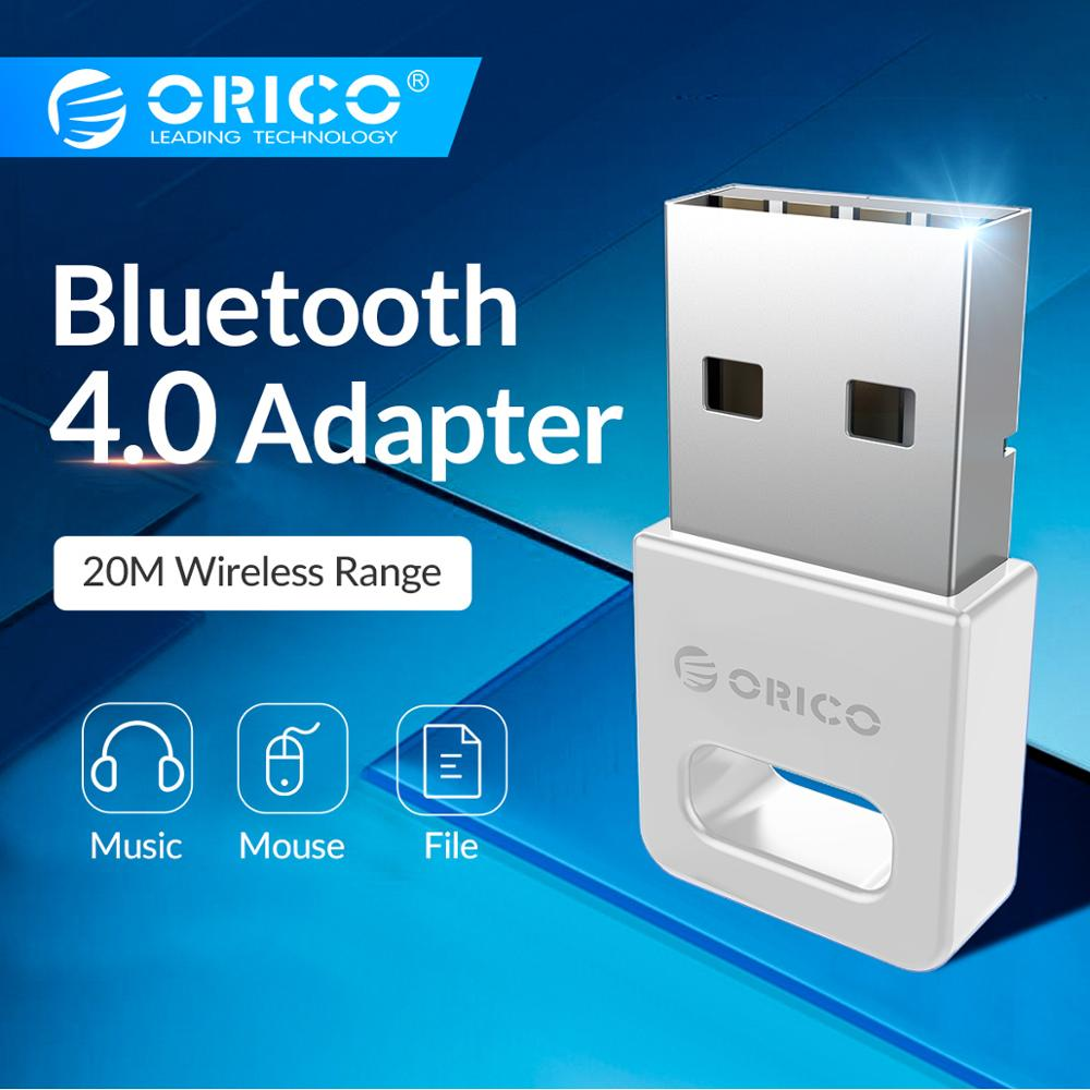 ORICO USB Bluetooth Adapter Bluetooth 4.0 Dongle Aptx Music Sound Receiver Adapter Up To 20M Wireless Range For Windows Computer