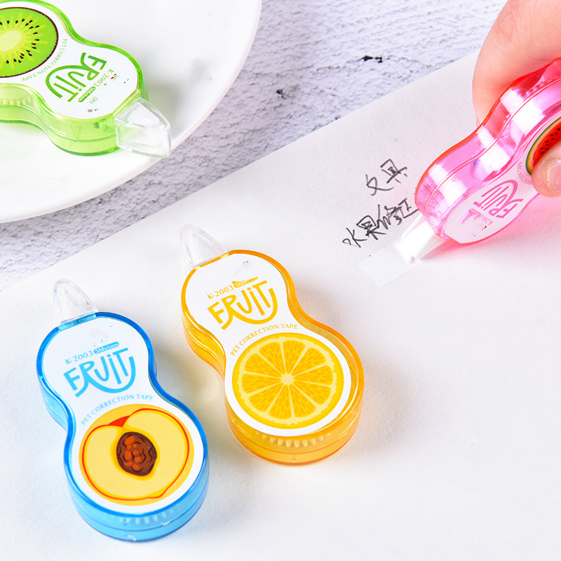 1PC Lovely Correction Tape Kawaii Fruit Tapes School Writing Corrector Tool