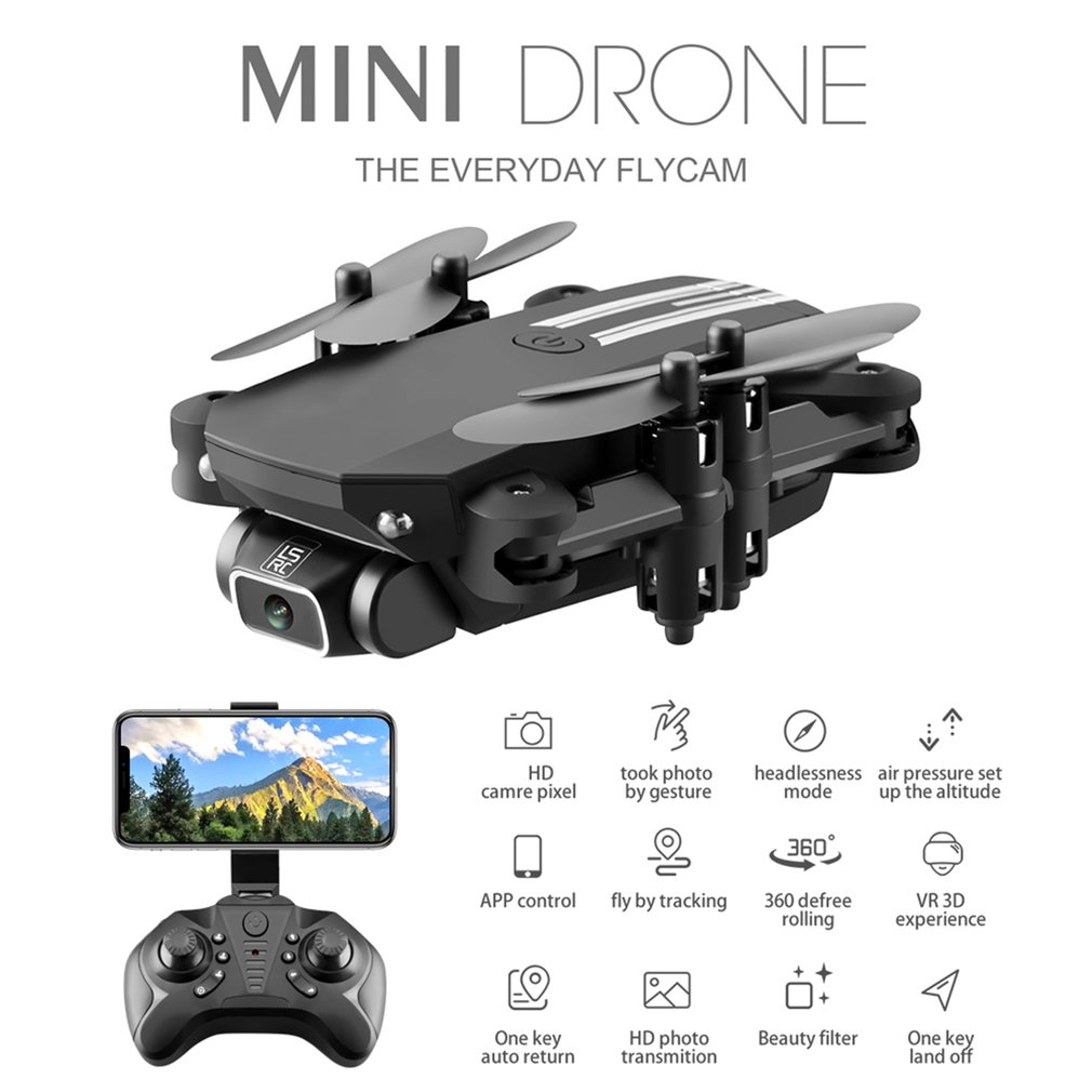 Drone Mini Ls-Min Hd Aerial Photography 1080P Pixel Four-Axis Aircraft Air Pressure Fixed Height Remote Control Aircraft Toy 2