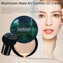 Sunisa cogumelo cabeça almofada de ar bb creme cc creme corretivo nutrir e último respirável hidratante clareamento cosméticos