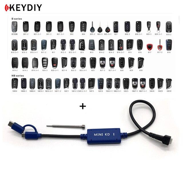 Uds KEYDIY Mini tecla KD generador de mandos a distancia soporte de Cable Android con KD900/KD X2 B/NB serie remoto