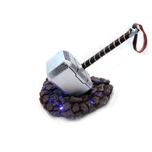 Марвел смолы мьельнир Тора молоток оружие 1:1 мигающие Мстители Фигурки из фильма модель Фигурка негабаритных Косплей Коллекция игрушки