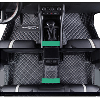 lsrtw2017 styling accessories leather car floor mats for skoda kodiaq 2016 2017 2018 2019 2020 rs gt carpet interior rug pad