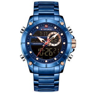 Image 5 - NAVIFORCE Men's Watches Top Brand Army Military Waterproof Sport Watch Men LED Quartz Digital Wrist Watch Male Relogio Masculino