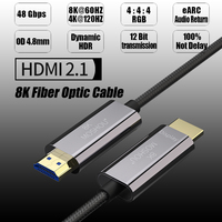 8K Fiber Ultra HD Cable HDMI 2.1 Cable 8K@120Hz Optical Fiber HIFI Audio Cable Ultra HD (UHD) Video Line 48Gbs Cord HDR 4:4:4