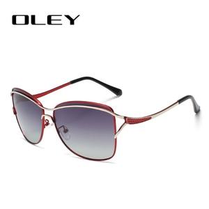 Image 2 - OLEY Brand Designer Big Frame Sunglasses Butterfly Shades For Women Fashion Quality Female Polarized glasses UV400 Y7215