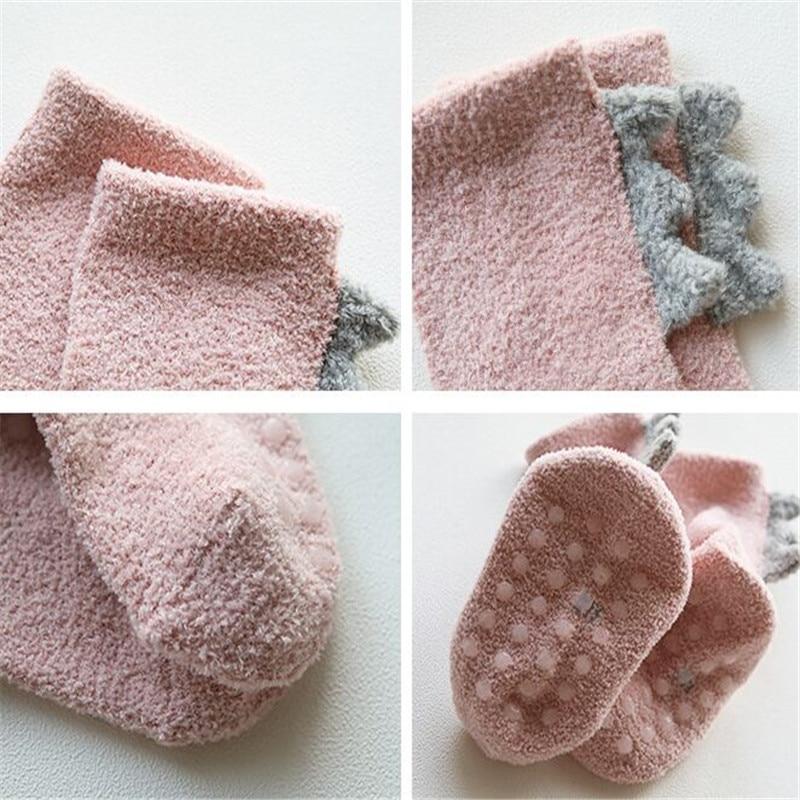Coral fleece Kids Girls Socks Winter Warm Baby Boy Socks Anti Slip Newborn Baby Girl Socks for Children Snow Clothes Accessories 6
