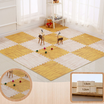 Wood Grain Baby Puzzle Mat Play Mat Kids Interlocking Exercise Tiles Rugs Floor Tiles Toys Carpet Soft Carpet Climbing Pad EVA children s soft eva puzzle mat baby play carpet puzzle animal letter cartoon eva foam play mat pad floor for kids games rugs sgs