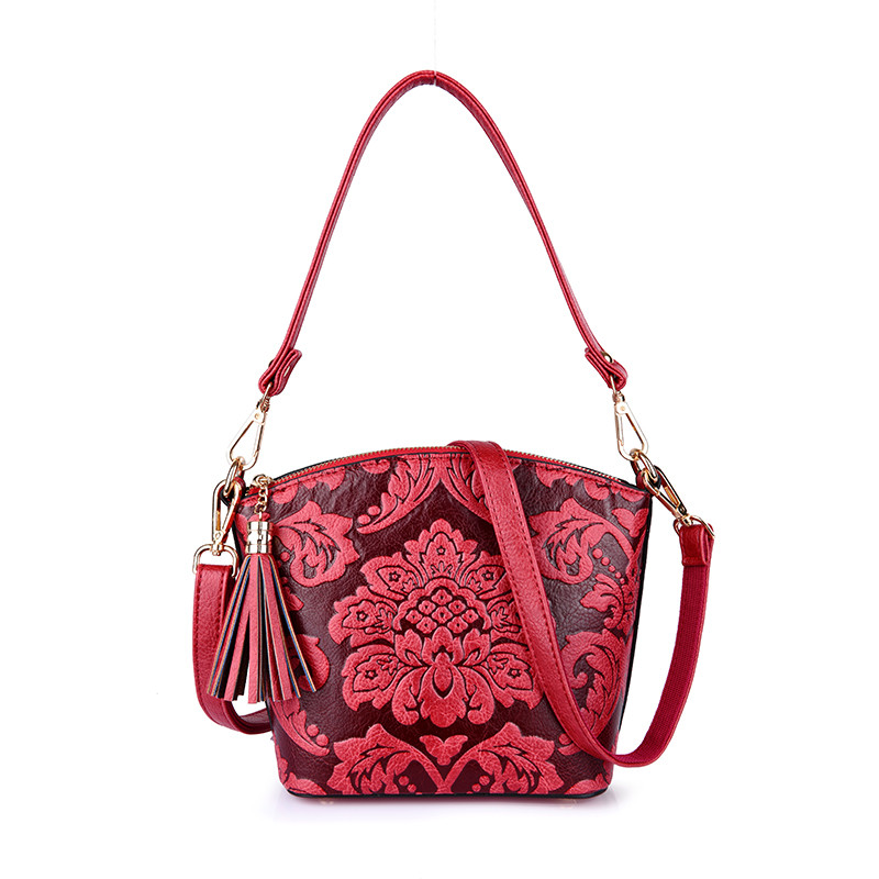 Flower Chinese Style Sac A Main Femme Shell Bag Women Messenger Crossbody Shoulder Bags For Women 2018 Pu LeatherBolsa Feminina