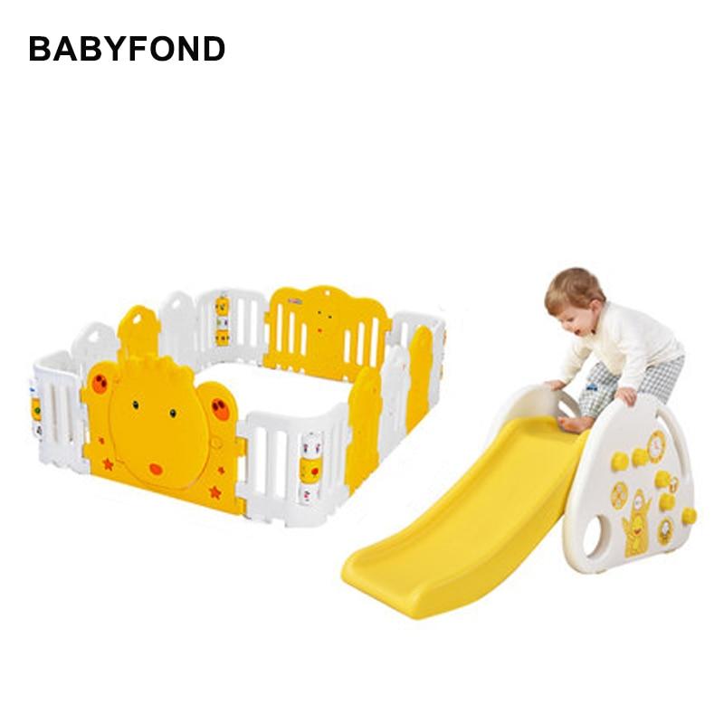 Multifunctional Baby Game Fence Toddler Fence Slide Toy Indoor Children's Game Park Slide Swing Combination