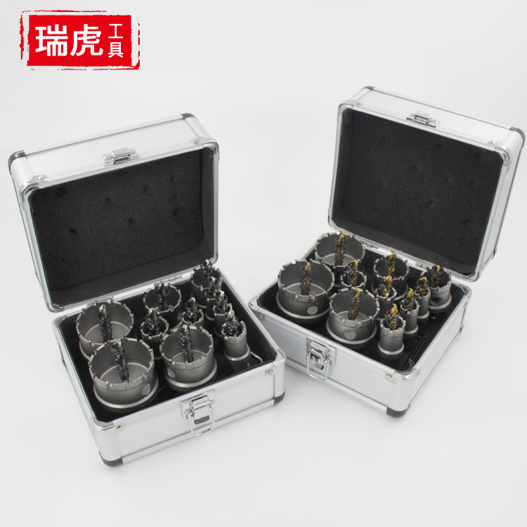 Top Grade Alloy Tapper SST Drilling Bit Metal Steel Plate Thick Iron Reaming Titanium Center Drill Aluminum Box Set|Electric Drills| |  - title=