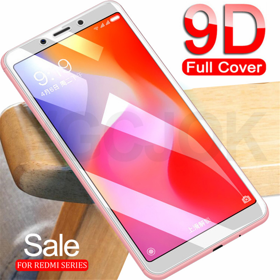 9D Full Cover Protective Glass On For Xiaomi Redmi 6 6A 7A S2 Screen Protector For Redmi 5 Plus Note 5 Tempered Glass Film Case