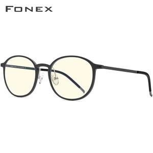 Image 3 - FONEX TR90 Anti mavi ışık gözlük erkekler gözlük gözlük gözlük gözlük Anti mavi oyun bilgisayarı gözlük kadınlar için AB02