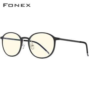 Image 3 - Fonex TR90 Anti Blauw Licht Bril Mannen Goggles Eyewear Brillen Bril Antiblue Gaming Computer Bril Voor Vrouwen AB02