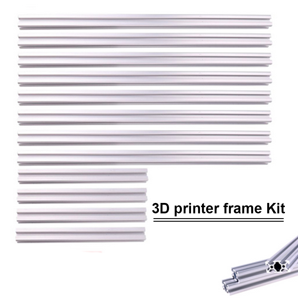 <font><b>2020</b></font> Series 3D printer frame T-Slot Aluminum Extrusion <font><b>Profile</b></font> <font><b>2020</b></font> Series <font><b>1000mm</b></font> 800mm 500mm Kits image