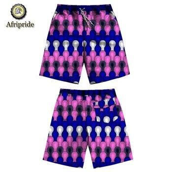 2019 الصيف السراويل نمط جديد أزياء الأفريقي الساخن أنقرة النسيج مثير عارضة السراويل طباعة الشمع الباتيك afripide S1921001