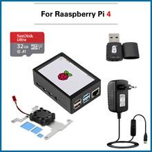 Raspberry Pi kit 3,5 zoll Touchscreen MHS 3,5 zoll Display 480*320 LCD mit ABS Fall Lüfter für raspberry Pi 4 Modell B 4B