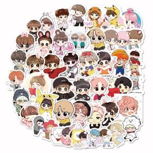 40pcs Kpop Stickers Green Stitch Cool Cute Girl S Skateboard Waterproof Motorcycle Unicorn Anime Kpop Bangtan Stickers Kids Toys(China)