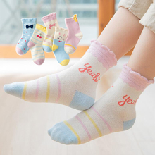 5 Pairs Lot Fashion Children s Soft Cotton Socks For Teens Boy Girl Baby Cute Cartoon