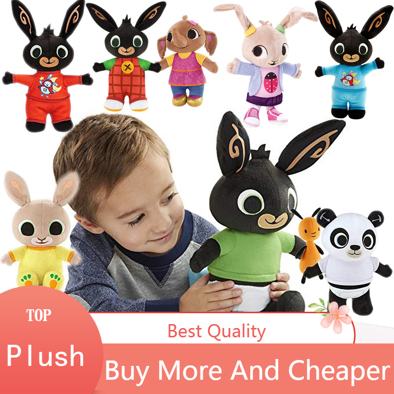Bing Bunny Plush Toy Sound Function Sula Flop Hoppity Voosh Pando Doll Peluche Dolls Toys Children Birthday Gifts