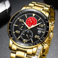 NIBOSI 2020 New Men Watch Blue Sport Waterproof Watch Men Fashion Quartz Wristwatch Luminous
