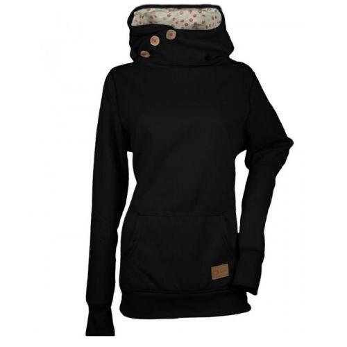 Women Hoodies Hooded Sweatshirt Long Sleeve Pullover Thermal Jumper Tops