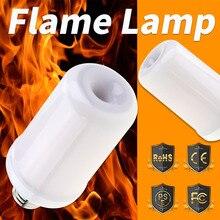 E27 LED Flame Lamp 12V Effect Fire Light Bulb E14 Candle E26 Flickering Burning Decoration 85-265V