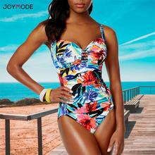 JOYMODE Monokini المايوه الأزهار قطعة واحدة ارتداءها 2019 حجم كبير 5XL بحر النساء البرازيلي ملابس السباحة Jumpsuit بذلة