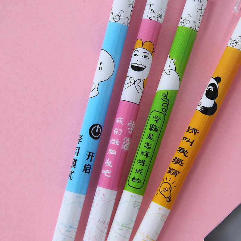 Kawaii мультяшная стираемая ручка Милая моющаяся ручка синий/черный 0,5 мм волшебные чернила нейтральная гелевая ручка школьные офисные канцелярские принадлежности