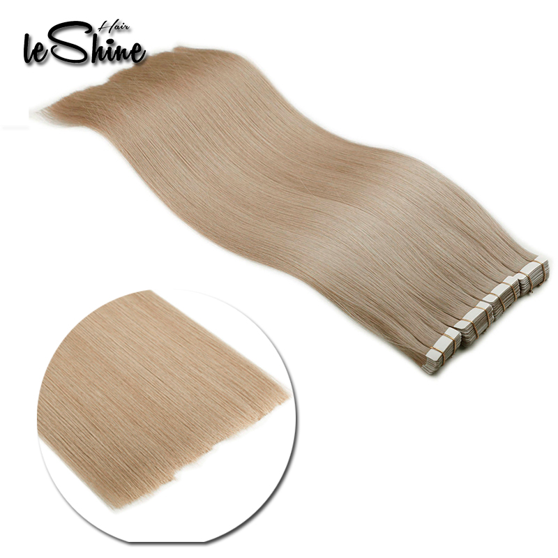 Sobeauty 100% Human Hair Double Drawn Tape In Hair Extensions 20PCS/Set Skin Weft Malaysian Remy Hair 14''18''20'' Ash Blonde