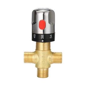 Image 1 - Sıcak/soğuk su karıştırma sıcaklık kontrol vanası ev SU ISITICI banyo ayarlanabilir vana pirinç su mikseri
