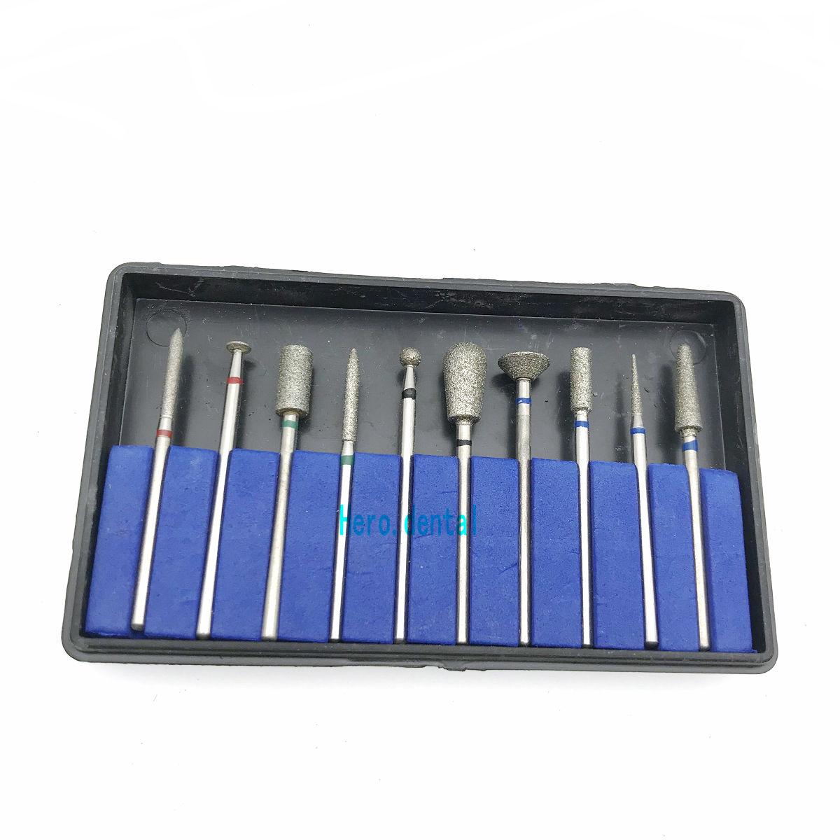 Dental Sintered Diamond Point Polisher Dental  HP Diamond Burs HP Shank Rotary Bur Set Lab 2.35mm