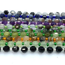 Veemake Aquamarine Prehnite Sapphire Lapis Lazuli Pietersi Iolite Rbuy Ctrine Hard Cut Faceted Sharp Energy Column Beads A06604