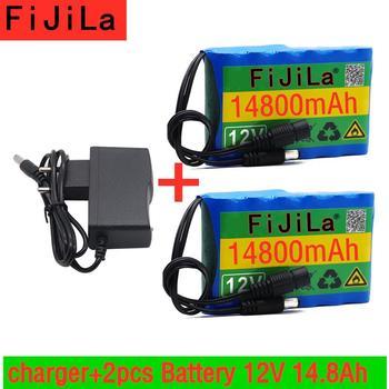 2020 新 12v 14800 3.7v 5000maの 18650 充電式バッテリーパックcctvカメラ用 3A電池 + 12.6 220v eu米国の充電器 + 無料ショッピング