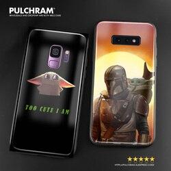 Bebê yoda meme bonito s suave silicone vidro caso do telefone capa escudo para samsung galaxy s8 s9 s10e s10 nota 8 9 10 20 mais