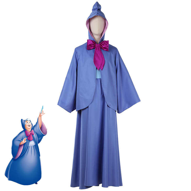Details about  /The Fairy Godmother Drizella Cosplay Dress Cape Hood Costume Cinderella Cartoon/&