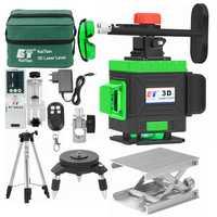 KaiTian Laser Livello Treppiede 12 Linee 3D Livello Self-Leveling 360 Orizzontale e Verticale Croce Verde Potente Ricevitore Nivel linea Laser