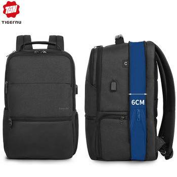 """2020 Tigernu New Arrival Large Capacity Travel 15.6"""" 19"""" Anti theft Laptop Backpack Men Waterproof Fashion USB Charging Male Bag"""