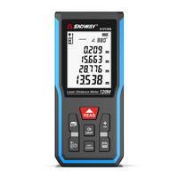 SNDWAY-Medidor de distancia láser, telémetro electrónico Digital de ruleta, Trena, cinta métrica láser, 50/70/100/120M