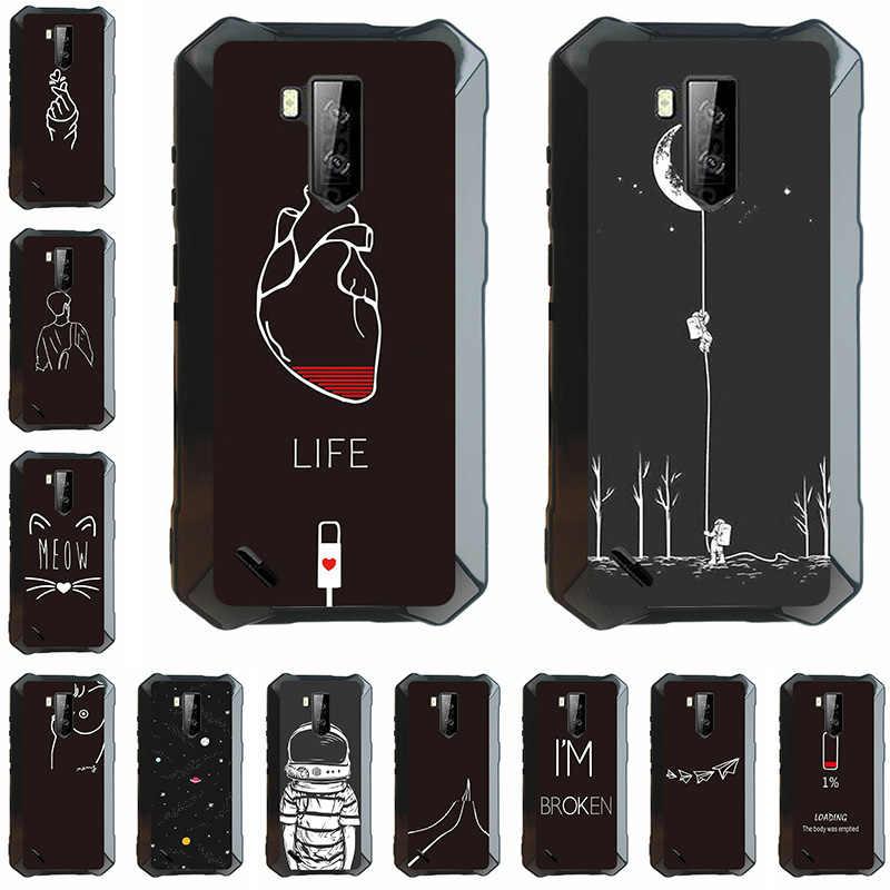 Mobile Phone Case untuk Ulefone Armor X3 2019 5.5 Inci Lembut TPU Hitam Perumahan Bag Housing DIY Shell Customized didukung
