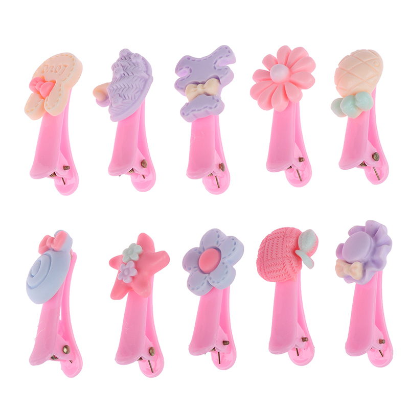 20Pcs Mixed Multicolor Baby Kid Children Girls Cartoon Hair Clips With Box