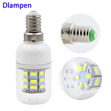 цена на ampolletas led bulb light E14 3W corn bulbs Ac Dc 12v 24v super 5730 candle spotlight 12 24 volts 360 degree lighting E 14 lamp