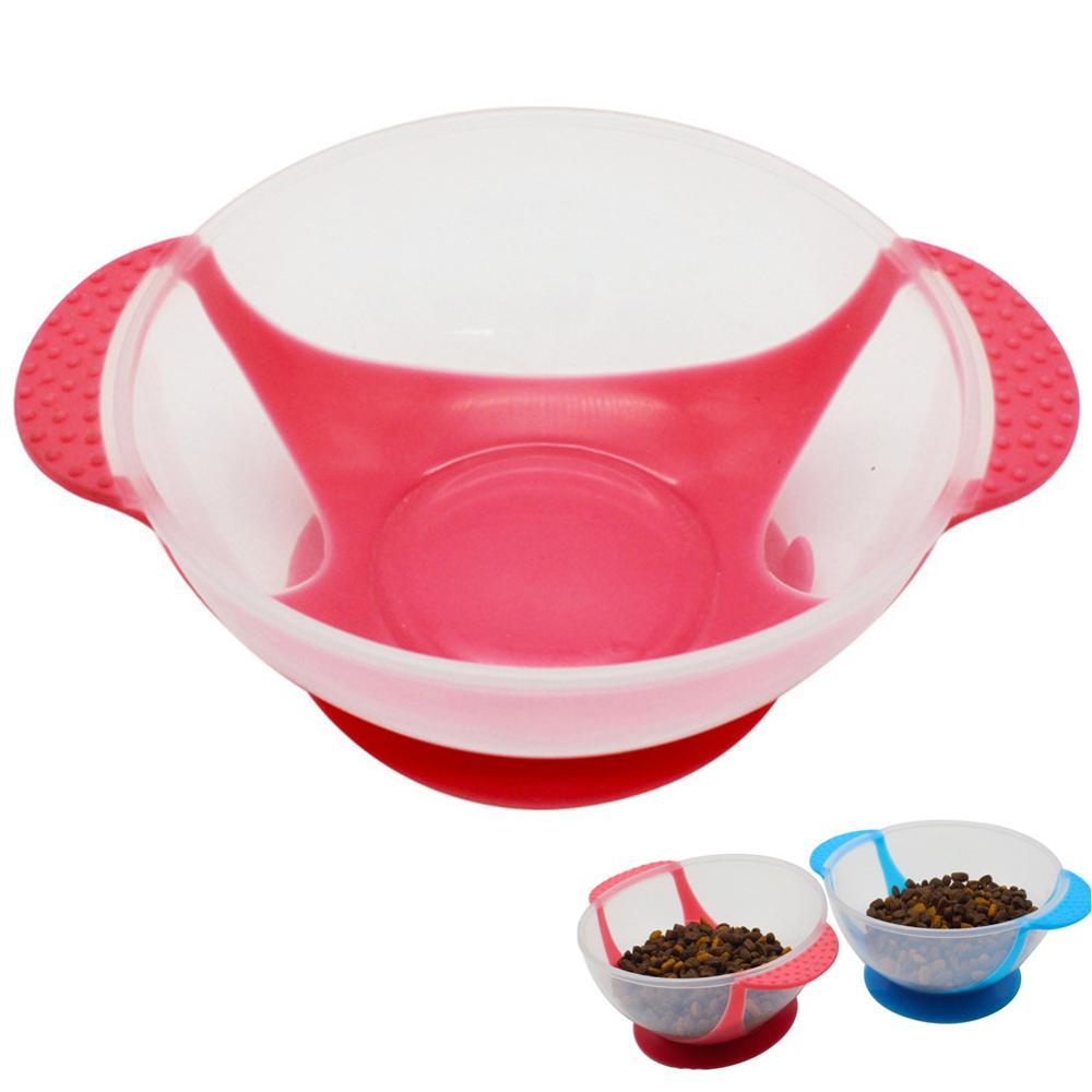 犬シングルボウル吸盤ペットフィーダー抗チョーク子犬遅くで食べる皿猫クリエイティブ給餌食品水プレートペット用品