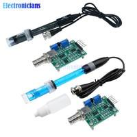 1Set Flüssigkeit PH 0-14 Wert Erkennung Regler Sensor Modul Überwachung Steuerung Meter Tester + BNC PH Elektrode sonde Für Arduino
