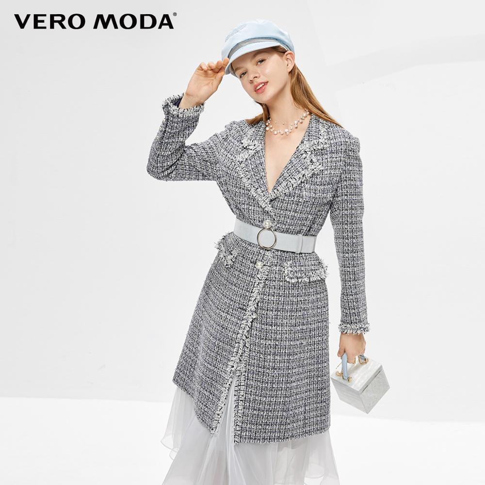 Vero Moda Women's Mid-length Cinched Waist Pearl Buttons Trench Coat | 319309511
